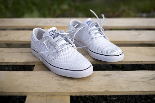 Nike SB Zoom Janoski White Perf Leather - Gov