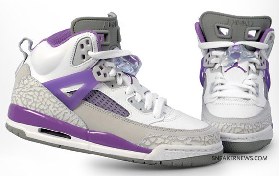 Air Jordan Spizike Purple And Grey