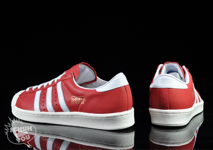 adidas superstar vintage red