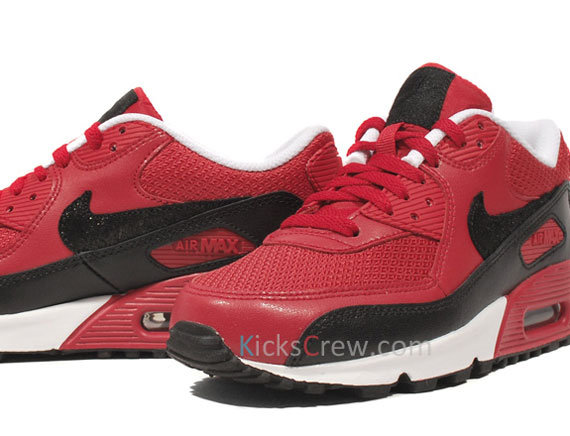 nike air max 90 red black white