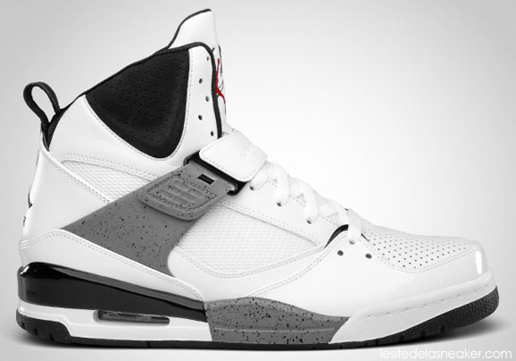 3f65fce85857 Air Jordan Flight 45 High White Varsity Red-Black-Cement Grey - Le ...