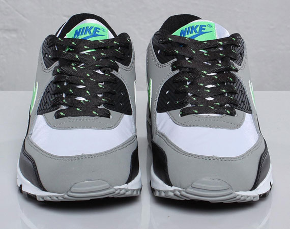 Nike Air Max 90 GS WhiteNeo LimeMedium GreyBlack