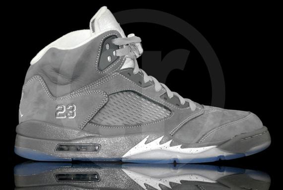 Nike Air Jordan 5 Retro Wolf Grey Nikes Discount Jordan Shoes