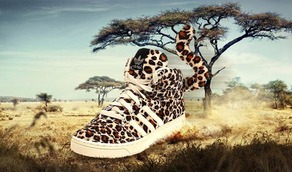 adidas jeremy scott leopard homme