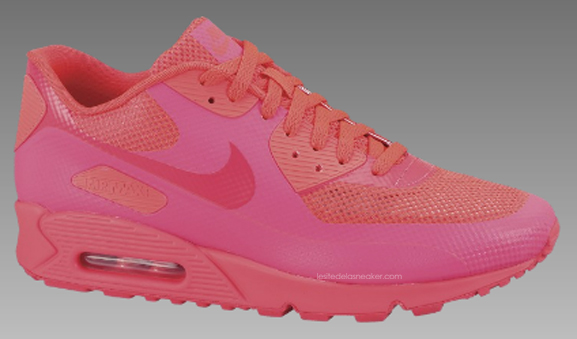 detailed pictures promo codes hot new products nike air max 90 hyperfuse rose fluo