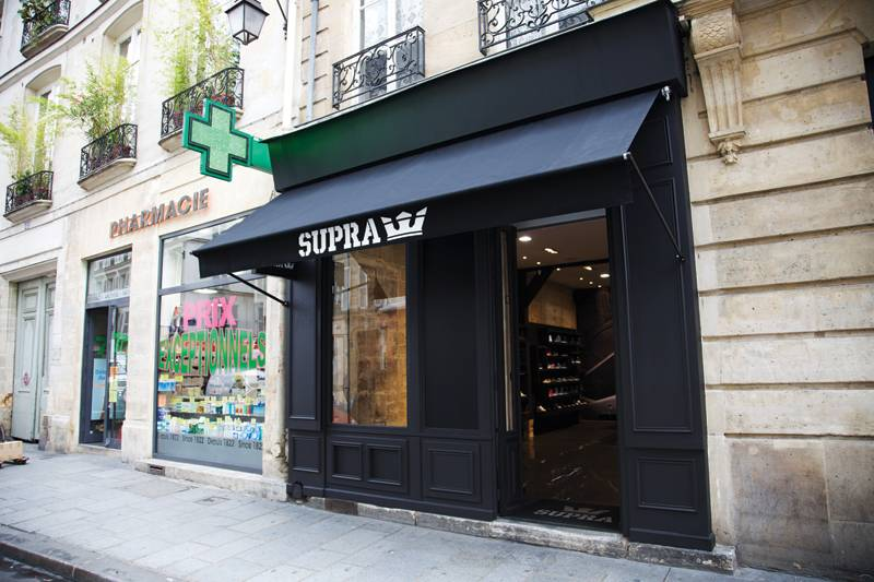 supra ouvre son premier magasin paris le site de la sneaker. Black Bedroom Furniture Sets. Home Design Ideas