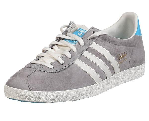 Adidas Gazelle Og Gris Blanc