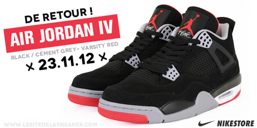 Air Jordan 4 Black Cement 2012