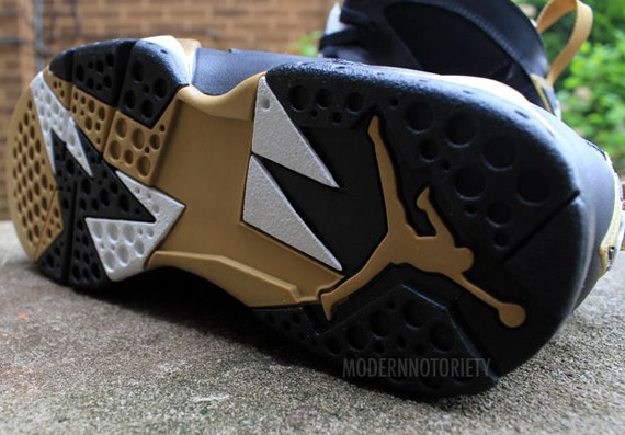air jordan 7 black gold