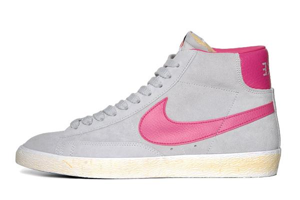 Nike Grise Et Rose