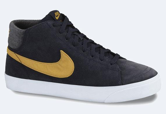 Nike La Site Lr Dark Obsidian Blazer Sneaker Gold Leaf De Mid Le tsQrChd