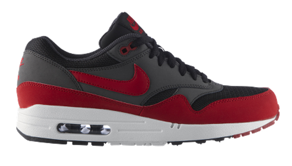 info pour b2735 fcfa7 Nike Air Max 1 Essential Black Grey Red - Le Site de la Sneaker
