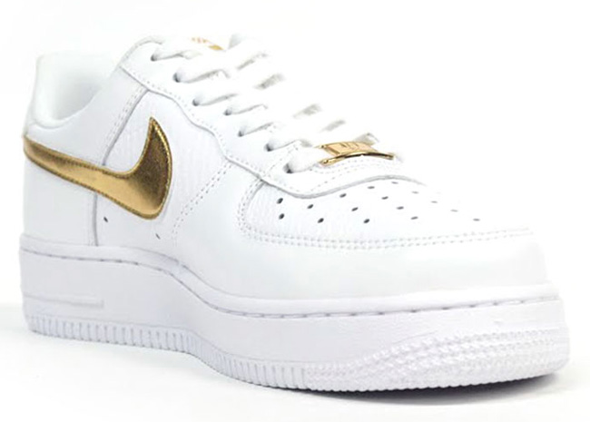 nike air force in white and gold