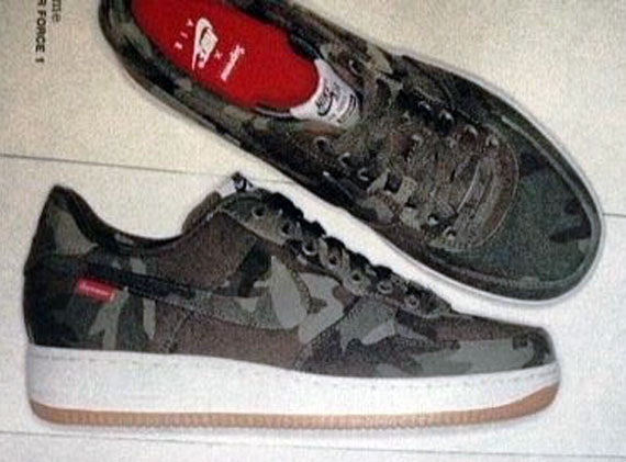 Air Le De 1 X Force Nike Camo La Supreme Site Sneaker Low nwP8O0k