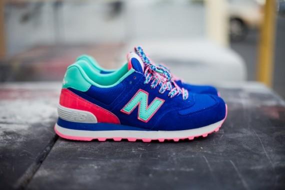 New Balance 574 Femme Blue Pink Teal