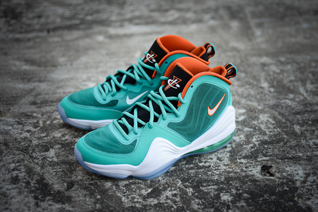 size 40 6e613 5d1fc Nike Air Penny 5 Miami Dolphins