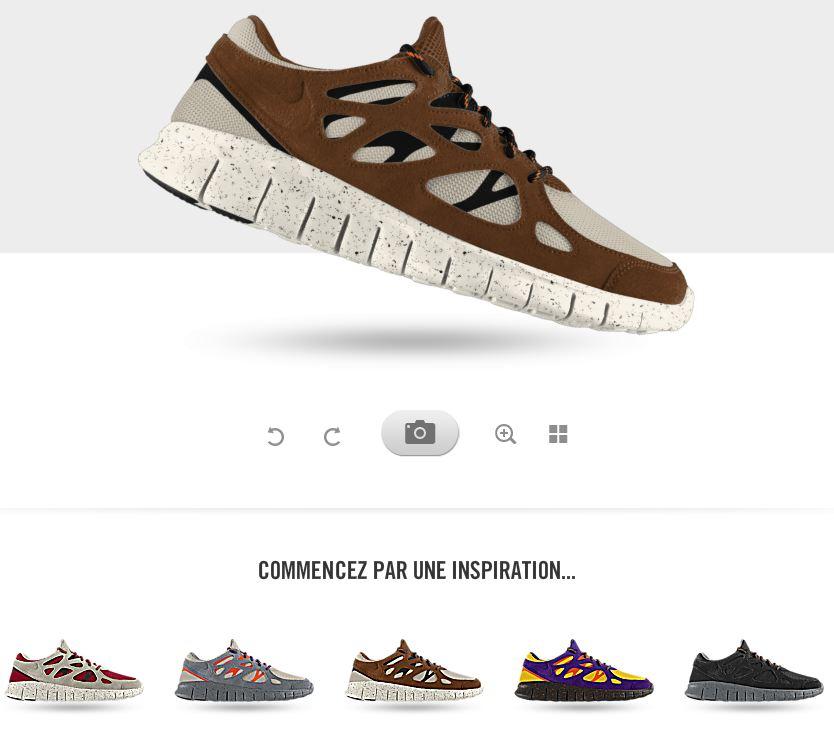 2 Modèle sur ID Free Run running ID Nike Nike personnalisable qB7wERc