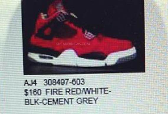 Air Jordan 4 Fire Red Suede