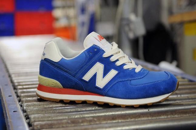 New Balance Rouge Et Bleu 574