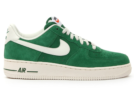 green nike air force ones