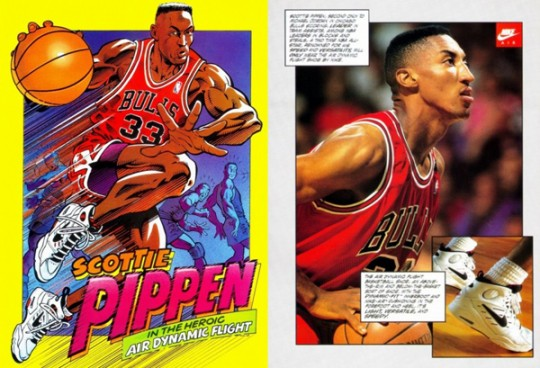 Nike Basketball Vintage Comic Books Pubs de 1993