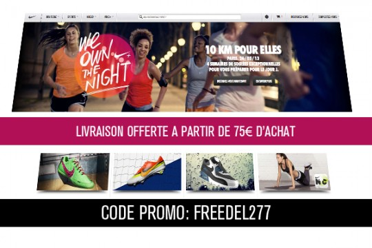 code promo nikestore livraison offerte le site de la sneaker. Black Bedroom Furniture Sets. Home Design Ideas