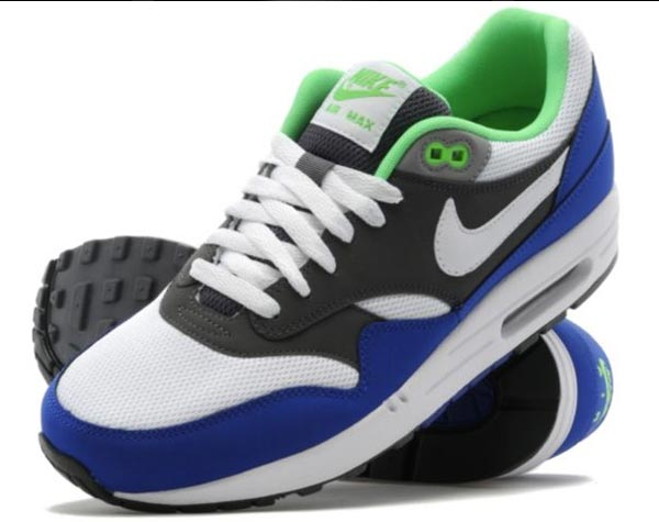 nike air max 1 hyperfuse grey volt green .