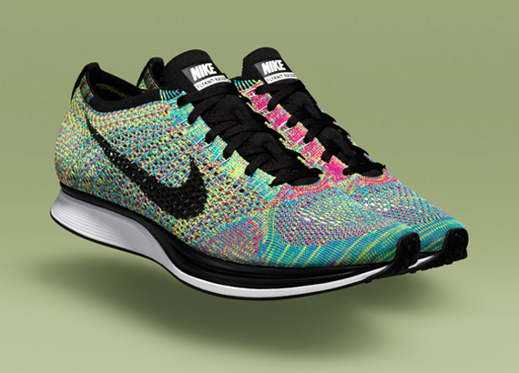 nike flyknit racer multi color le site de la sneaker. Black Bedroom Furniture Sets. Home Design Ideas