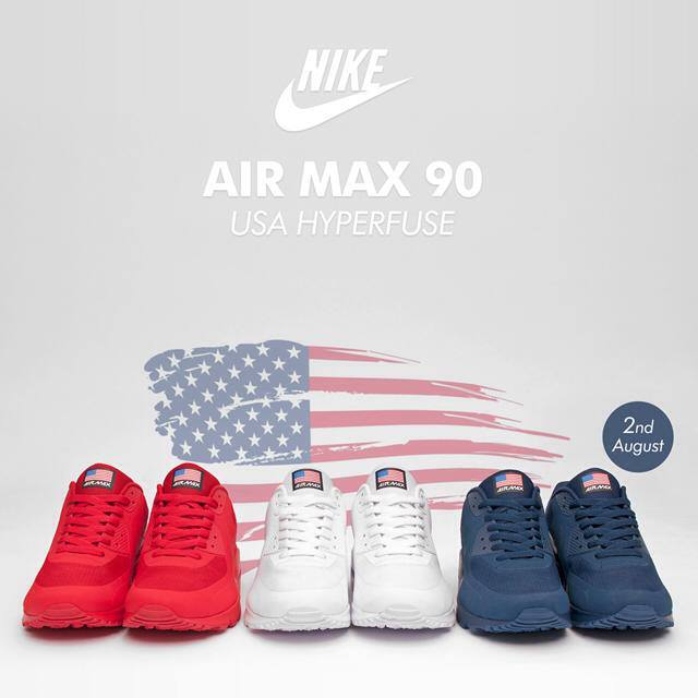 nike air max 90 hyperfuse usa pack price