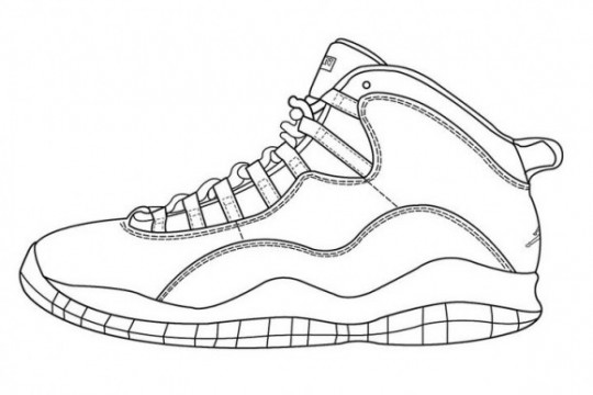 How To Draw Jordan Shoes Coloring Pages