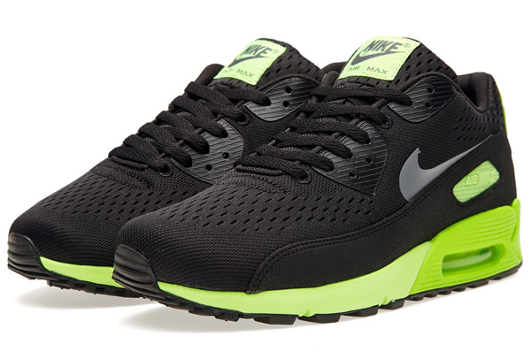 the nike air max 90 prm comfort em black flash lime