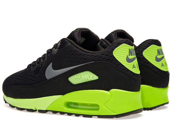 Nike Air Max 90 Premium Comfort EM Black Flash Lime - Le Site de la Sneaker