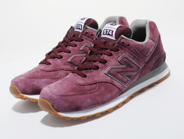 new balance 574 mono suede pack burgundy
