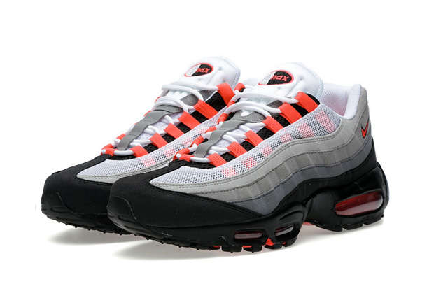 Nike Air Max 95 White Solar Red - Le Site de la Sneaker