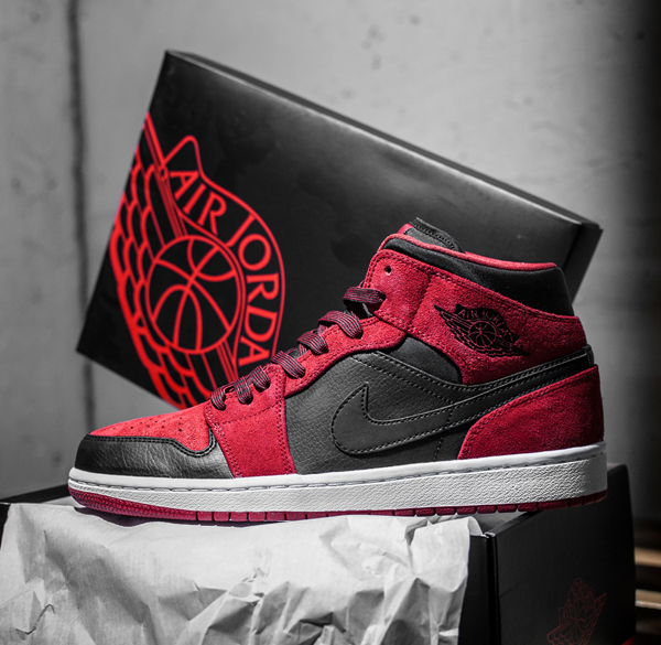 air jordan 1 mid red
