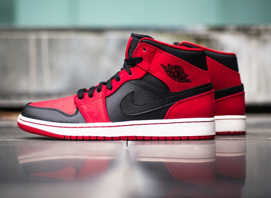 air jordan 1 mid black red