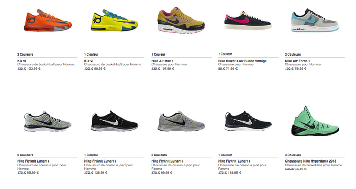 soldes nike store