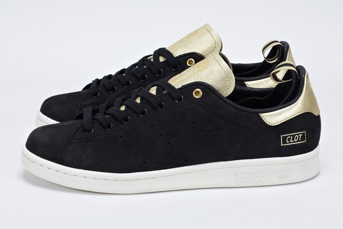 Adidas Stan Smith Noir Et Doré