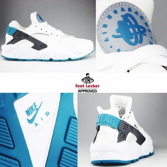 nike air huarache white turbo green 01