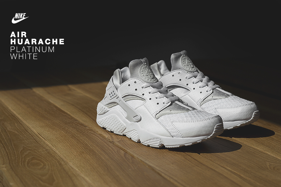 nike,air,huarache,white,platinum