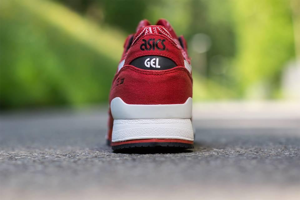 asics tiger gel lyte iii bandana sneakers rot