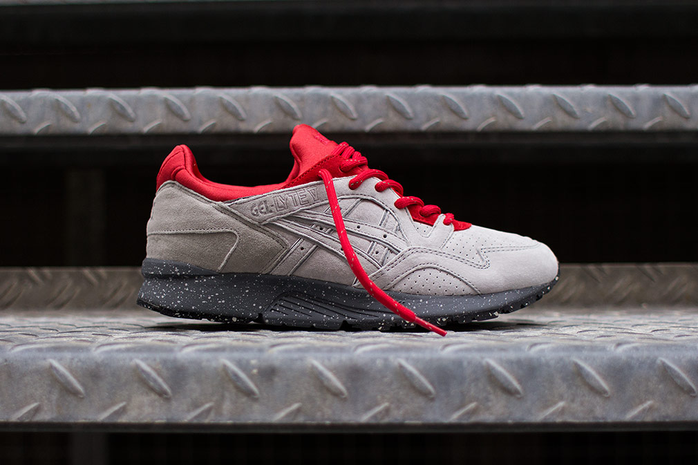 taille 40 29d9a f8928 asics gel lyte 5 blanche et rouge