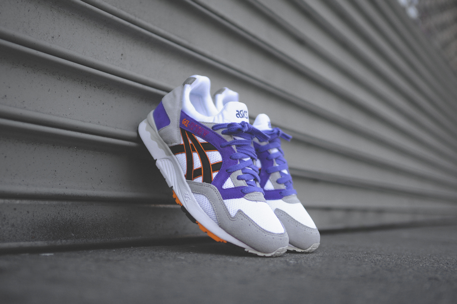 asics gel lyte purple orange