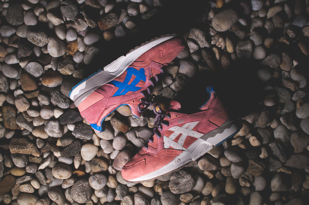 ronnie fieg x asics gel lyte v - rose gold and sage