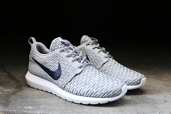 Nike Flyknit Roshe Run Light Charcoal Photos