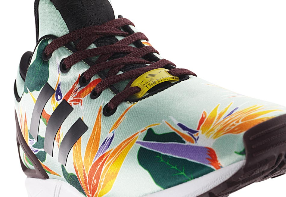 adidas zx flux flowers,chaussures adidas zx flux print