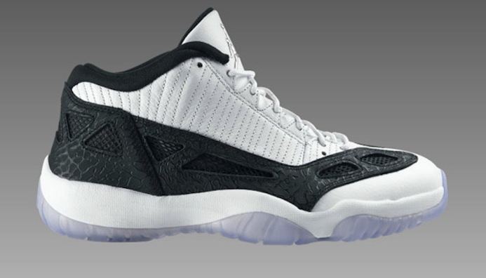 air jordan 11 low white black