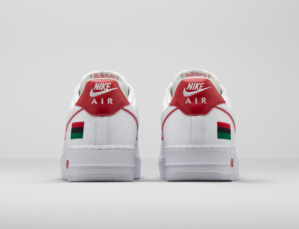nike air force 1 low bhm white red