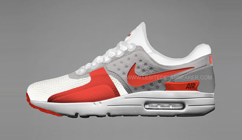 air max zero rouge noir