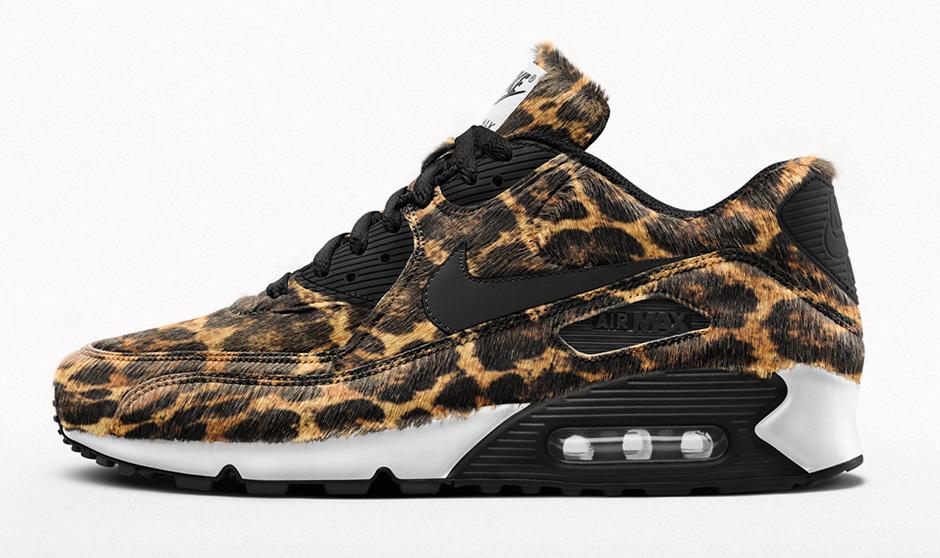 nike air max 90 leopard print (black/white)